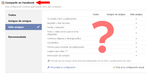 Configurando privacidad Facebook