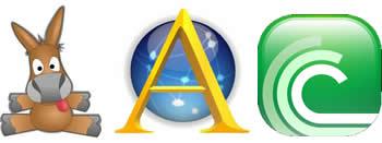 eMule   Ares    BitTorrent