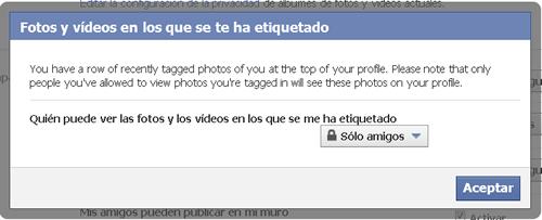 Facebook. Configurar tu privacidad – 'Compartir en facebook' (II