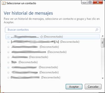 Ver historial Messenger