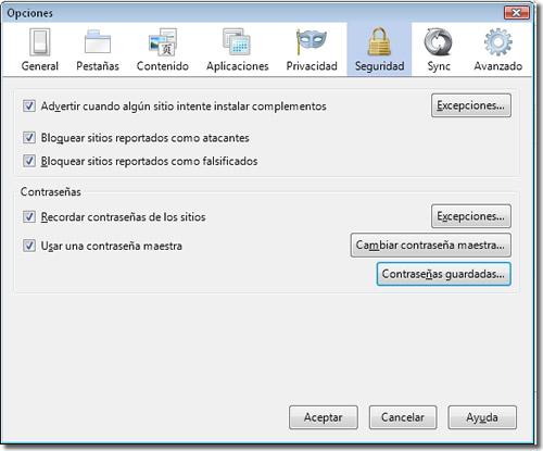 Seguridad de Firefox
