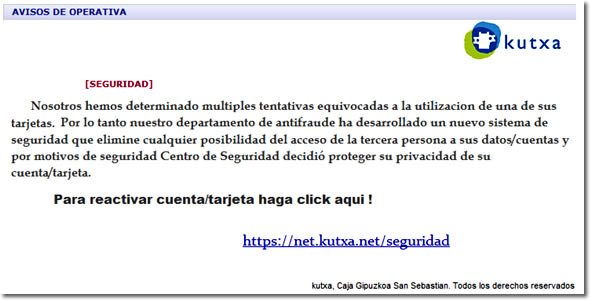 Phishing a Kutxa