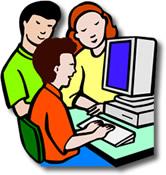 Niño con las TIC