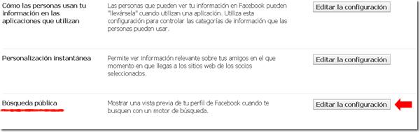 Búsqueda pública Facebook
