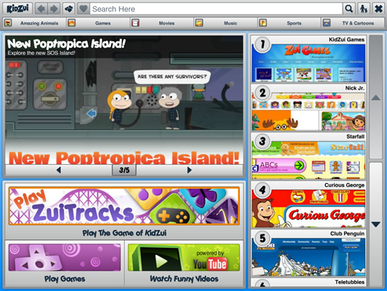 Navegador KidZui para Firefox