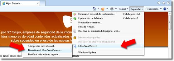 Anti phishing en Explorer