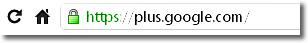 El uso de HTTPS en Google plus
