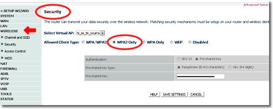 WPA2 en tu router