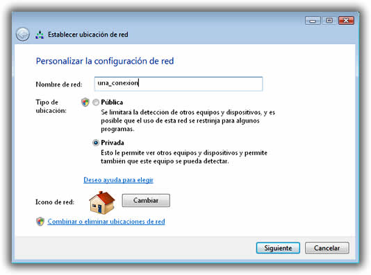 Red pública o red privada en la configuración de Windows