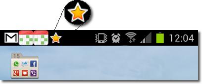 Publicidad en Android, icono estrella