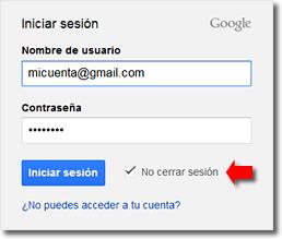 cerrar la sesión de Gmail a distancia