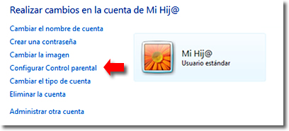 Control parental en Windows