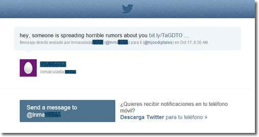 El phishing en Twitter