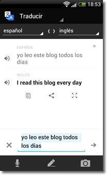 Google translate, el intérprete de bolsillo