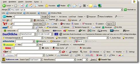 Java y la barra de herramientas Ask