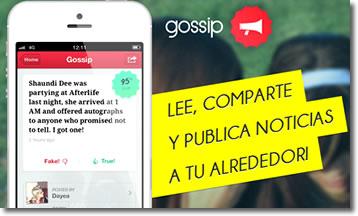 Gossip, aplicación para el cotilleo
