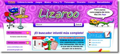 Lizaroo, un buscador para los más pequeños de la casa