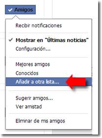 lista de acceso restringido en Facebook