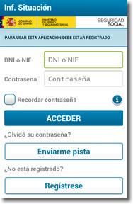 Aplicaciones para móviles de la Seguridad Social