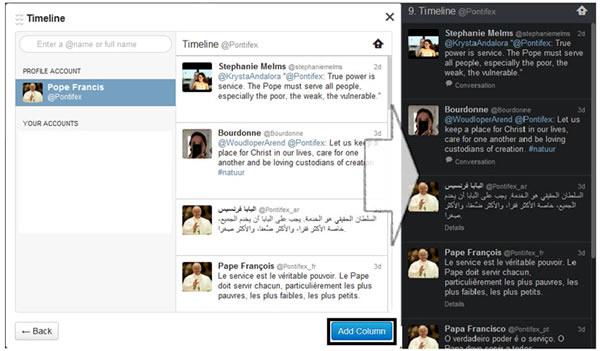 Timeline de Twitter, sólo para tus ojos
