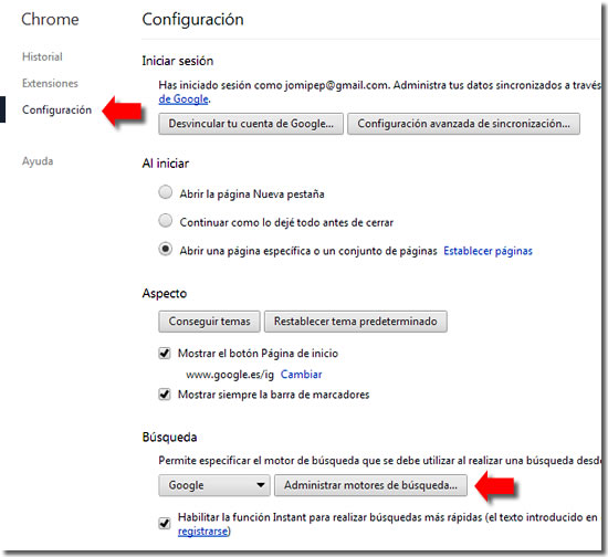 Limpiar Chrome de instalaciones no deseadas