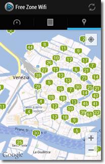Para encontrar wifi gratis, combina Free Zone Escáner y Wifipass