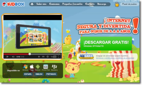 KidBox: Internet apropiado y seguro para los niños