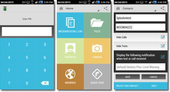 Aplicaciones para ocultar contenido en Android