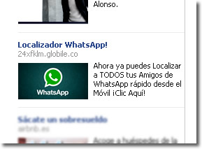 Localizador WhatsApp, siguen los engaños en Facebook