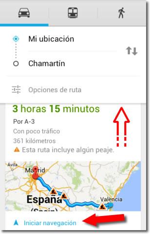 Cómo utilizar Google Maps como navegador