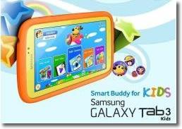 Tablet Galaxy Tab 3 Kids para niños y padres
