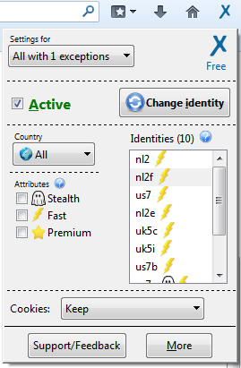 AnonymoX para Firefox permite ver webs bloqueadas por el administrador