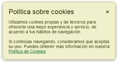 Aceptar las cookies de las páginas de Internet