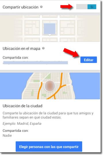 Localizar a familiares y amigos en Google plus
