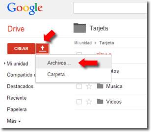Cómo enviar vídeos por Google Drive