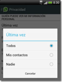 WhatsApp permite ocultar la foto, el estado y la última conexión