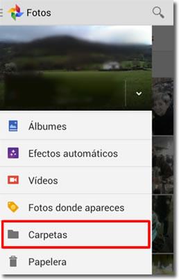 Subida automática de las carpetas de fotos y vídeos en Android
