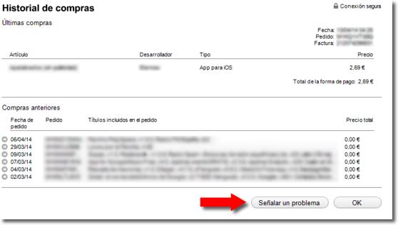 Reclamar por una aplicación en iPhone o iPad