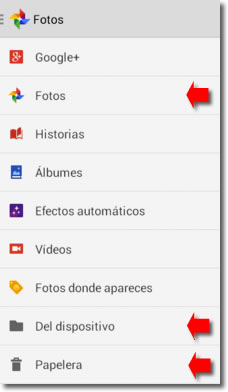 Borrar fotos en Android