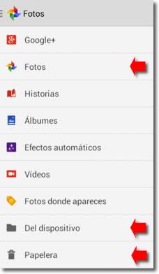 Borrar fotos en Android
