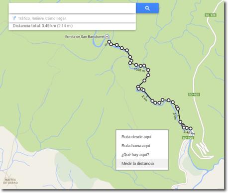 Google Maps permite medir distancias entre puntos del mapa
