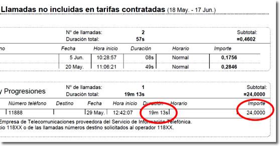 Servicios de información telefónica como el 11822