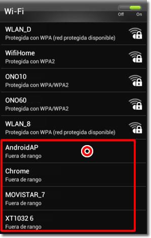 Borra conexiones wifi
