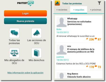 ProtestApp es la aplicación de móvil de la OCU