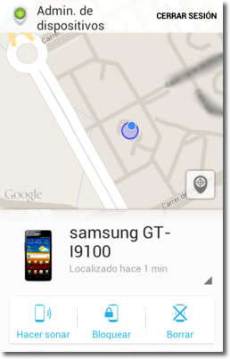 Localiza tu Android desde otro teléfono o tablet Android