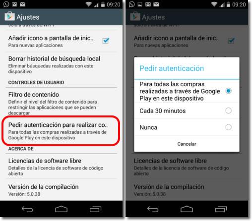 Cómo impedir pagos no deseados en las aplicaciones Android