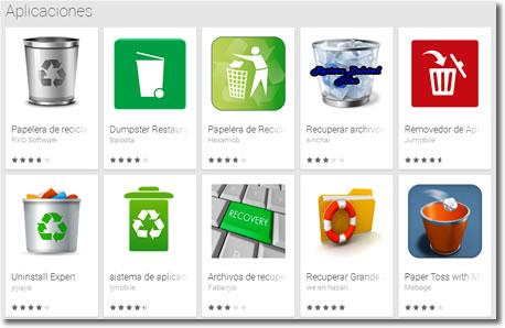 Instala en tu Android una papelera de reciclaje