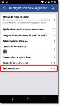 Facebook y la aprobación de inicio de sesión