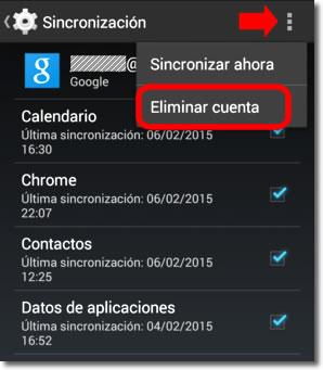 Cómo eliminar la cuenta Google de un Andoid