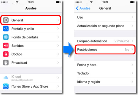 El control parental en el iPhone
